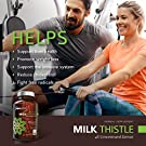 Organic Milk Thistle Capsules, 1500mg 4X Concentrated Extract with Silymarin is The Strongest Milk Thistle Supplement Available. Great for Liver Cleanse & Detox! 120 Vegetarian Capsules #2