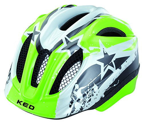 KED Meggy Helm green stars Kopfumfang 49-55 cm 2015