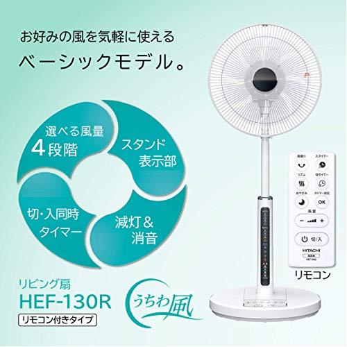 日立扇風機リモコン付風量4段階8枚羽根やさしい微風(うちわ風)減灯&消音HEF-130R