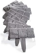 Plastic Fence 10pcs Stone Brick Effect Palisade Trellis Garden Edging Lawn Flower Bed Border DIY Decorative Lifestyle Solutions