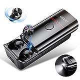 Ecouteur Bluetooth 5.0 Écouteurs sans Fil Étanche TWS Léger Stéréo 210H Playtime avec 6000mAh Etui de Charge Contrôle Tactile Oreillette Bluetooth Sport avec LED Torche pour iOS Android