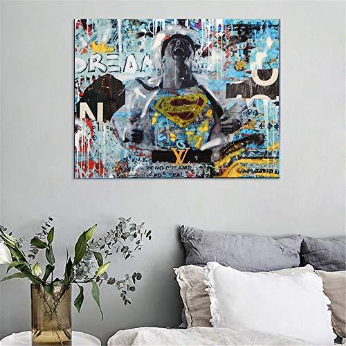 Puzzle 1000 piezas Pintura nórdica abstracta del arte pop del héroe del graffiti puzzle 1000 piezas clementoni Rompecabezas educativo de juguete para aliviar el estrés intelec50x75cm(20x30inch)