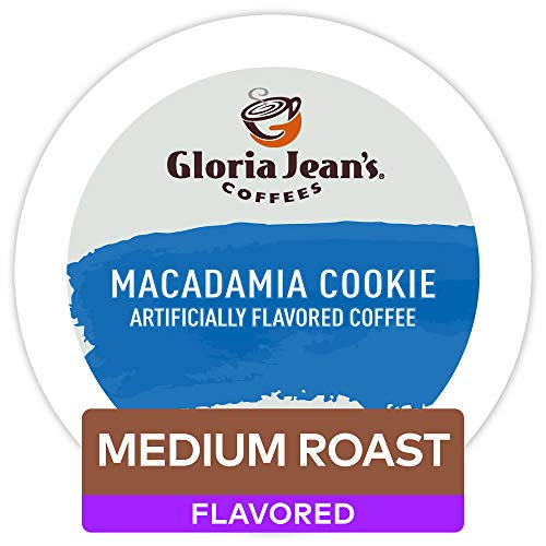 Gloria Jean's Coffees Macadamia Cookie, Single-Serve Keurig K-Cup Pods, Flavored Medium Roast Coffee, 96 Count