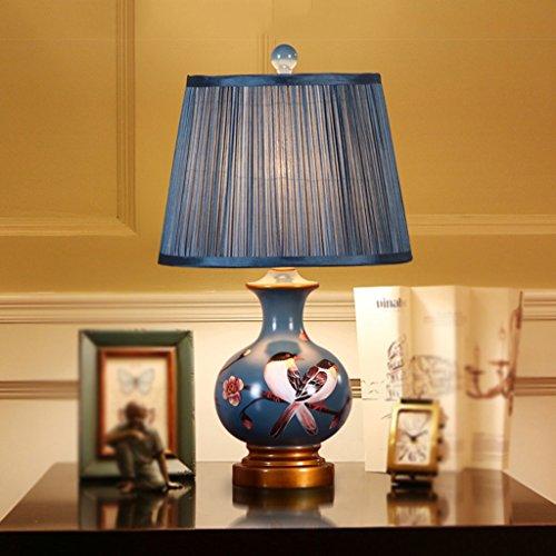 Bonne chose lampe de table Lampe de table américaine Lampe de nuit à la pièce Nouvelle peinture chinoise Gravure Étude Living Room Lights