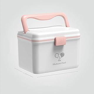 SYLOZ Medicine Cabinet, Portable Medical Storage Box, Health Medicine Jewelry Prescription Cabinet (Color : White)