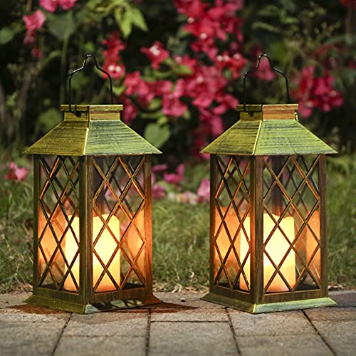 Tomshine Solar Exterior Lámpara con Vela,Luz LED Solar faroles jardin exteri,Lámpara...