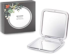 Compact Makeup Mirror, 2-sided with 7X Magnifying Mirror and 1x Mirrors, Beyond handheld mirror for Purses and Travel
