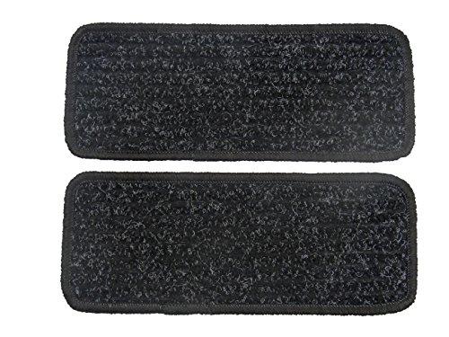 Alpha-Tex Fußmatte 1614 - Autoteppich (2 Einstiegsmatten in Qualität Robust anthrazit, Umrandung schwarz)