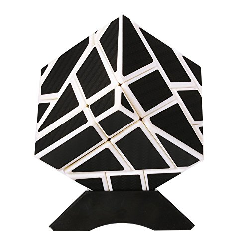 Twister.CK Ghost Cube 3x3 ,Magic Newest Ghost Speed Cube 3x3 with Carbon Fiber Sticker Intelligence Puzzles,Turns Quicker and Smoother, for Cube Teasers