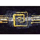 Papel de colour amarillo y adornos para árbol de Navidad de fieltro de diseño abstracto - no, 219 papel pintado de papel pintado cuadro de imagen de la foto abstracto de adornos para árbol de colour amarillo y negro de fondo de pantalla