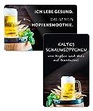 Kühlschrankmagnete 2er Set Bier, Hopfensmoothie, lustige Sprüche, Magnete für Kühlschrank, Kühlschrankdekoration im Geschenkset