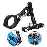 BestCool Soporte de botella de agua para bicicleta, adaptador de aleación de aluminio, abrazadera para manillar de bicicleta de carretera, color negro