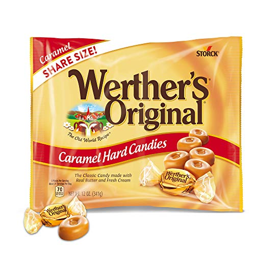WERTHER'S ORIGINAL Caramel Hard Candies, 9 Ounce Bag, Hard Candy, Individually Wrapped Candy Caramels, Caramel Candy Sweets, Bag of Candy