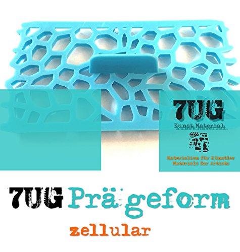 7UG Prägeform zellular für Strukturpasten, Ton, Fimo, Paperclay. Praktisches Tool für Bildende Künstler