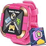 1.5 'Touch Kids Game Smart Watch [Walkie Talkie Edition] for Ages 3-12 Boys Girls Toddlers Digital Wrist Watch with Camera Pedometer Alarm Kids Electronic Learning Toy Birthday Gift-Pink
