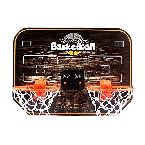 Basketballkorb mit Ständer Hängendes Doppelbasketballbrett für Kinder, Basketballständer mit elektronischer Wertungsfunktion, Eisenkorb für Indoor-Sportarten, Indoor- und Outdoor-Schießmaschine
