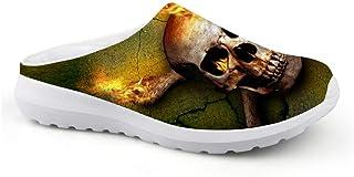 Sandalias Unisex Transpirables de Malla con diseño de cráneo, para Verano, para la Playa, Antideslizantes, para Deportes a...