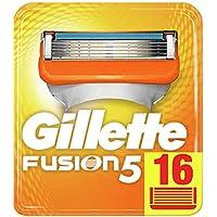 Gillette Fusion 5 - Cuchillas de Afeitar para Maquinillas Manuales, Apto para Envío Postal, 16 Unidades
