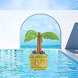 Colchoneta hinchable para piscina, soporte para bebidas, 2 en 1, soporte para bebidas y aperitivos, colchonetas flotantes para piscina, fiestas y diversión acuática (B)
