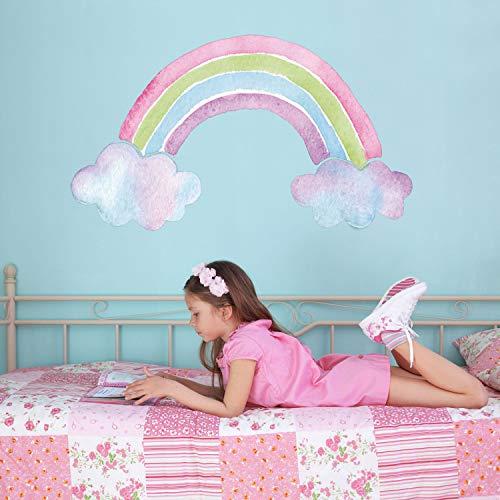 Stickerscape Aquarell Regenbogen Wandtattoo | Einhorn Wandsticker | Kinderzimmer Dekor