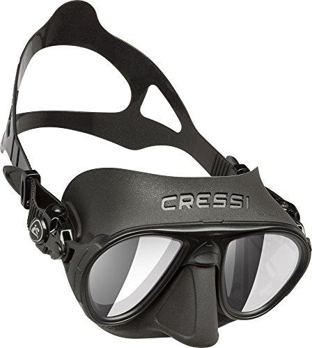 Cressi Erwachsene Calibro Tauchmaske, Schwarz/Spiegellinsen HD, One Size