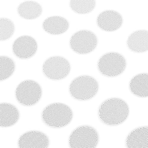Nifogo Dusch Sticker 20 PCS,antirutsch badewanne,Anti Rutsch Aufkleber,Rund 10cm, 100% Transparent & Selbstklebend,für Badewannen Duschen Treppe Wohnzimmer