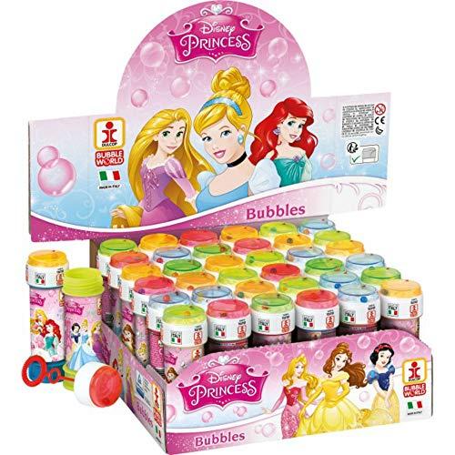 Lote de 20 Divertidos Pomperos de Jabón Infantiles'Princesas Disney'. Regalos y Recuerdos Originales. Juegos y Juguetes. Detalles de Bodas, Comuniones, Bautizos y Eventos.