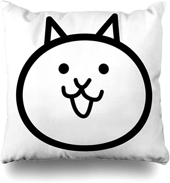 Ahawoso Throw Pillow Cover Square 16x16 Inches Battle Cat Decorative Pillow Case Home Decor Pillowcase