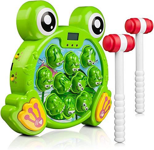 YUYON Juego Interactivo De Ranita, Aprendizaje, Juguetes Activos De Desarrollo Temprano (para Niños De 3 4 5 6 7 8 Años),Green