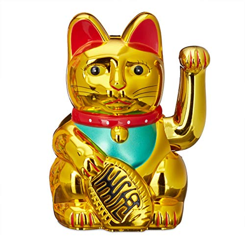 Relaxdays Maneki-Neko chat chinois porte-bonheur Asie Chine