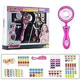 BENGKUI Trenzador eléctrico para el pelo, diseño de oso de gelatina, con forma de oso de caramelo, con abalorios, pulseras, accesorios para manualidades para niños, niñas, versión mejorada