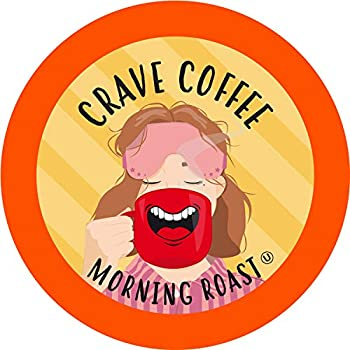 Crave Beverage Morning Roast - Light Roast Coffee Pods for Keurig K Cup Brewers 100 Count