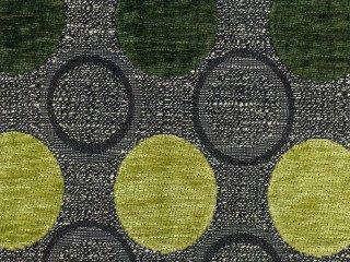 Möbelstoff Stage Point 7069 (grün, hellgrün, dunkelgrün, grau) - modernes Chenille-Flachgewebe (große Punkte, Gemustert), Polsterstoff, Stoff, Bezugsstoff, Eckbank, Couch, Sessel, Hussen, Kissen