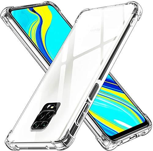 ivoler Funda para Xiaomi Redmi Note 9S / Xiaomi Redmi Note 9 Pro, Carcasa Protectora Antigolpes Transparente con Cojín Esquina Parachoques, Suave TPU Silicona Caso Delgada Anti-Choques Case
