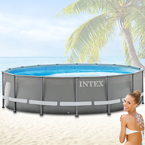 Intex 488x132 cm Schwimmbecken Swimming Pool Schwimmbad Ersatzpool Frame metal 28924