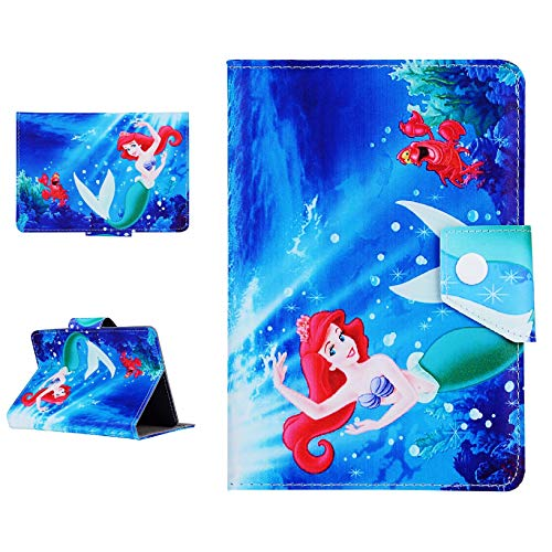 Disney Boys & Girls ~ Tablet Cases for Kids Tab 7' 8' 9.7' 10.1 Inch ~ New Cover ~ (Universal 10' (10.1' Inch), Little Ariel Mermaid)