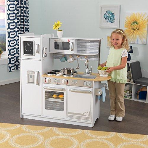 KidKraft 53364 Uptown Cuisine en bois blanc pour enfant Avec téléphone inclus