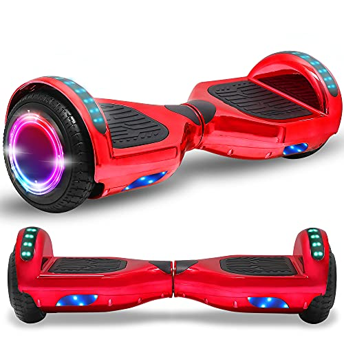 Newest Generation Electric Hoverboard Dual Motors with Built-in Bluetooth Speaker LED
