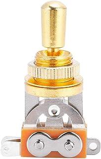 Healifty Selettore a 3 vie Selettore a levetta Box a chitarra Manopola di selezione nero e oro