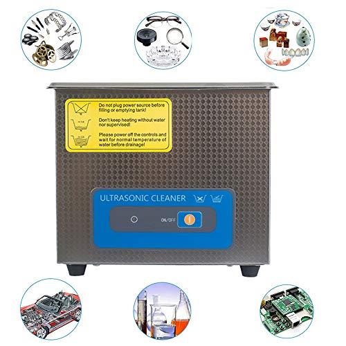 LNLN 1.3L mini ultrasone reinigingsmachine met roestvrij stalen watertank, roestvrijstalen mand, sieraden wasmachine, bril prothese auto-onderdelen hardware accessoires