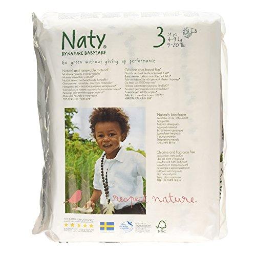 Eco by Naty Babycare Größe 3 (4–9 kg) Eco Windeln, 31 Stück