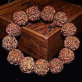 MLJSX Bracelet Bouddhiste Naturel Bodhi Graine Santé Bracelet pour Hommes Bouddha Charme Bracelets Bijoux Prière Perle Bracelets Accessoires