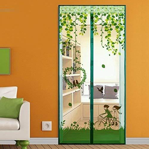 Willlly Vliegengaas voor de zomer, vliegengaas voor ramen, casual chic slaapkamer, eenvoudige betaling, klittenbandsluiting, 100 x 210 cm 140x220Cm C