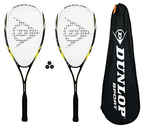 Dunlop Nanomax Pro lot de 2 raquettes de Squash 3...
