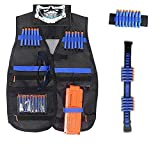 HASTHIP® Tactical Vest Kit Compatible with Nerf Guns N-Strike Elite Series Protective Glasses Size...