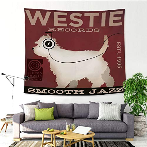 Hören Sie das Lied Golden Retriever Dachshund Meng Haustier Wandbehang Stoff hängen Malerei Wanddekoration