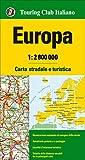 Europa 1: 2.800.000. Carta stradale e turistica