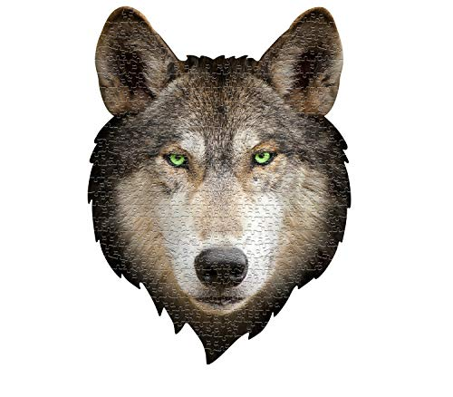MADD 3003-IAMWOLF CAPP 883003 Shape Puzzle Wolf, Konturpuzzle 550 Teile, für Kinder und Erwachsene, Mehrfarbig
