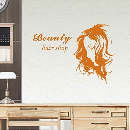 Pbbzl Kappers-sticker Beauty-schaar, haarknippen, naamborden, vinyl, muurkunst, decoratie voor wand, woonkamer, 40 x 58 cm