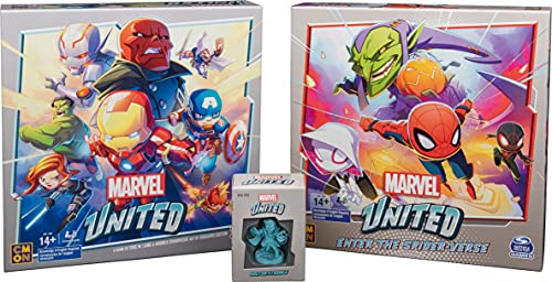 Marvel United, Superhero Cooperative Card Strategy Board Game Bundle with Spiderman Expansion & Dr....